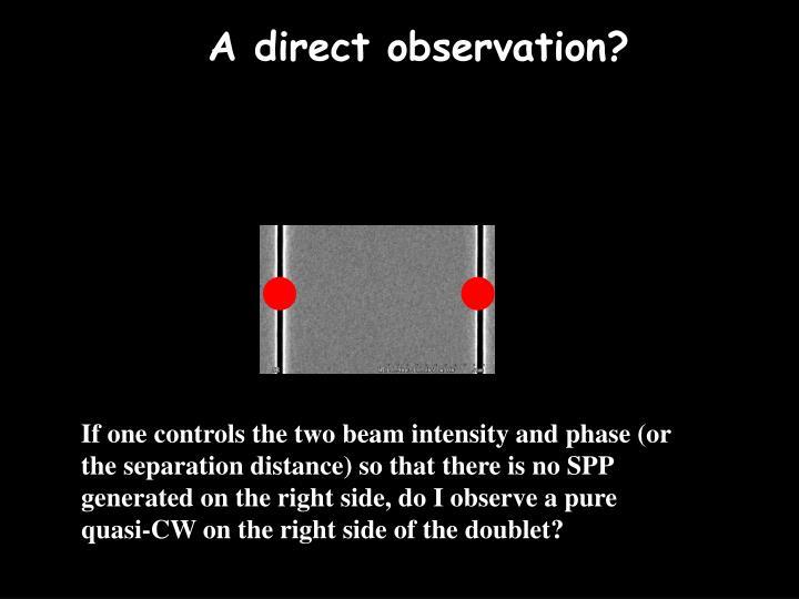 A direct observation?