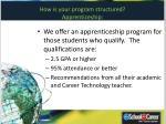 how is your program structured apprenticeship