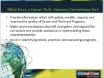 what does a career tech advisory committees do