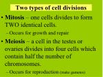 two types of cell divisions
