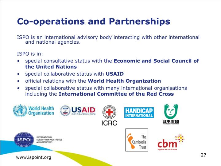 Co-operations and Partnerships