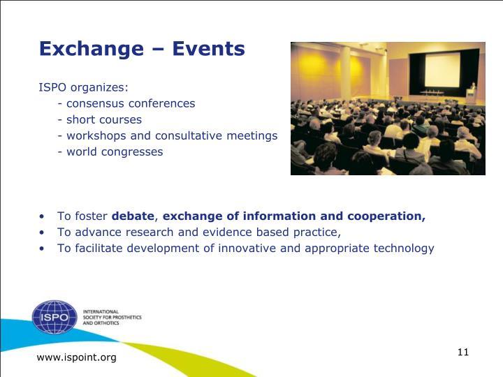 Exchange – Events