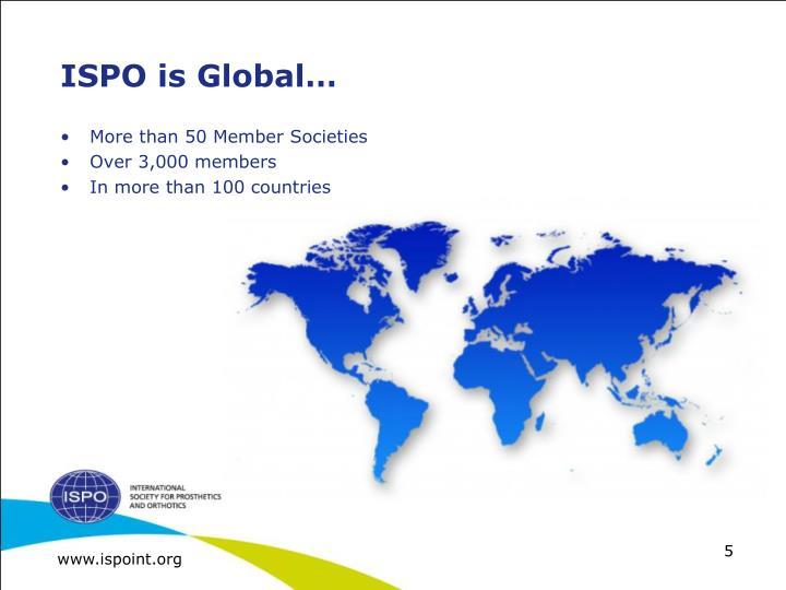 ISPO is Global…