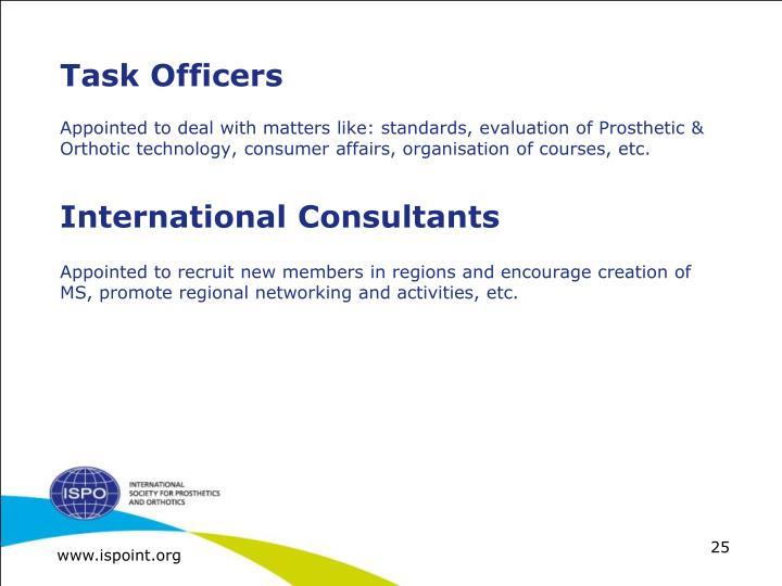 Task Officers
