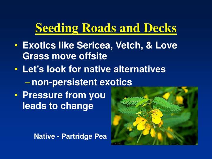 Seeding Roads and Decks