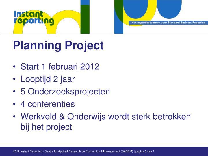 Planning Project