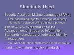 standards used