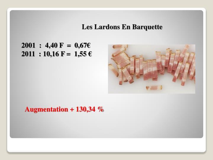 Les Lardons En Barquette