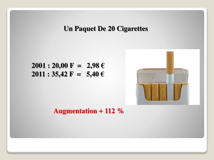 Un Paquet De 20 Cigarettes