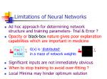 limitations of neural networks
