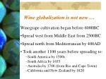 wine globalization is not new