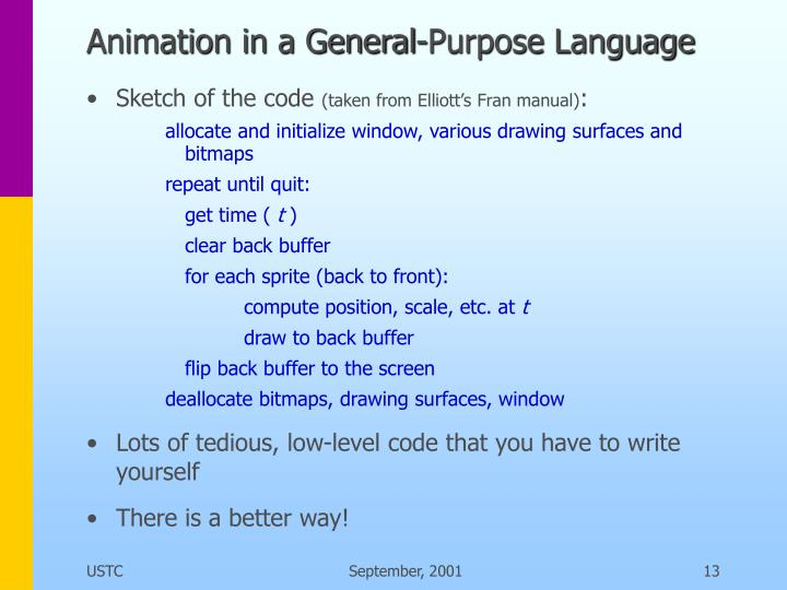Animation in a General-Purpose Language