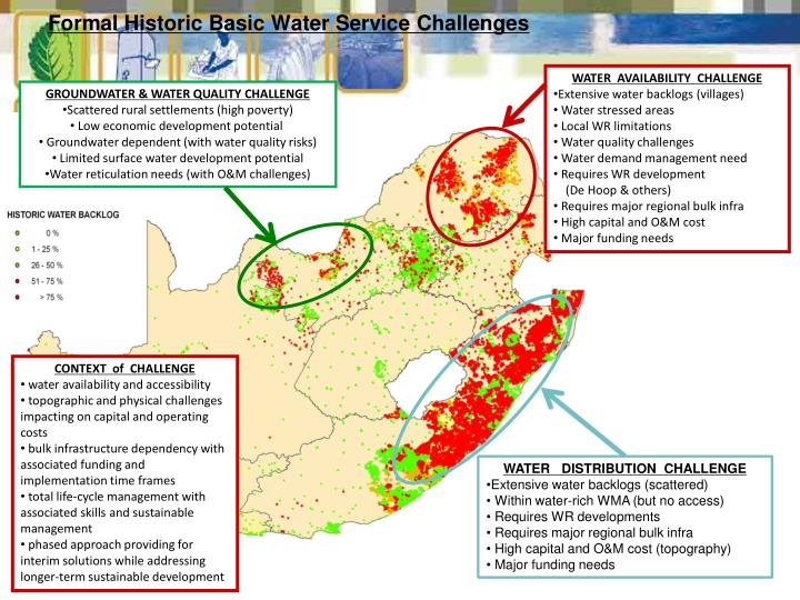 Formal Historic Basic Water Service Challenges