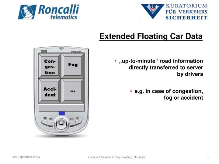 Extended Floating Car Data