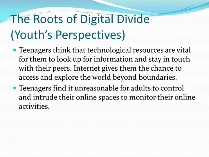 The Roots of Digital Divide