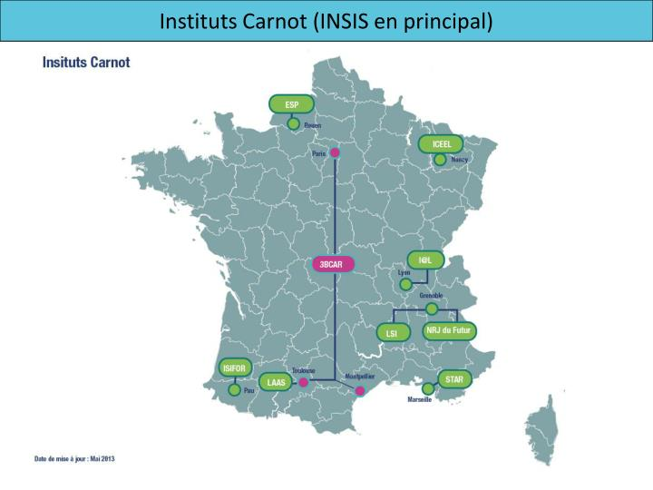 Instituts Carnot (INSIS en principal)