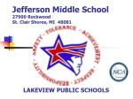 jefferson middle school 27900 rockwood st clair shores mi 48081