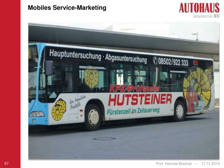 Mobiles Service-Marketing
