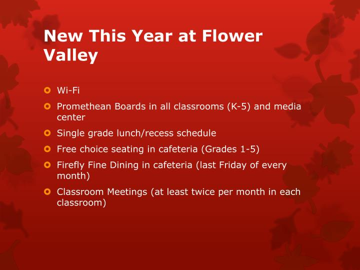 New This Year at Flower Valley