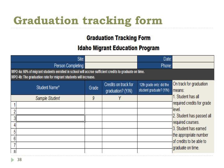Graduation tracking form