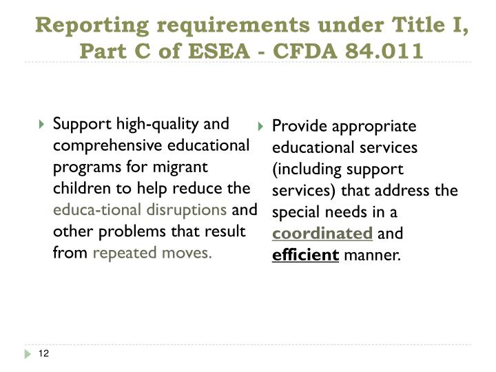 Support high-quality and comprehensive educational programs for migrant children to help reduce the