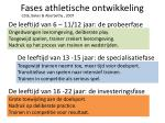 fases athletische ontwikkeling