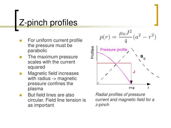 Z-pinch profiles