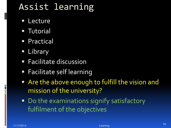 Assist learning