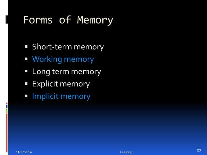Forms of Memory