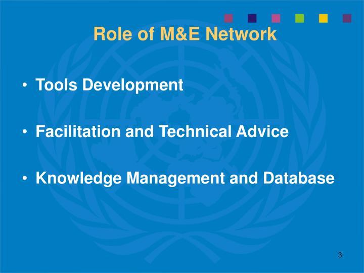 Role of m e network