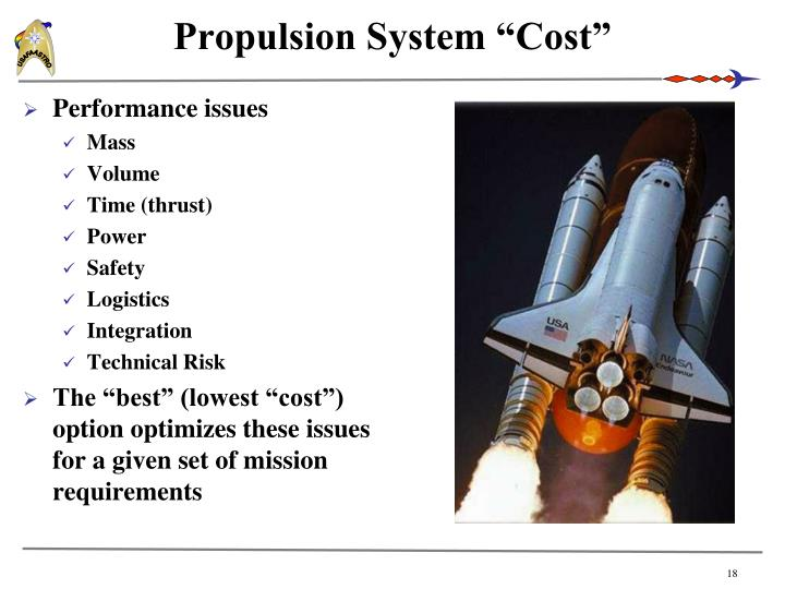 """Propulsion System """"Cost"""""""