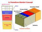 li vanadium blanket concept