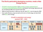 the world particularly developing countries needs a new energy source