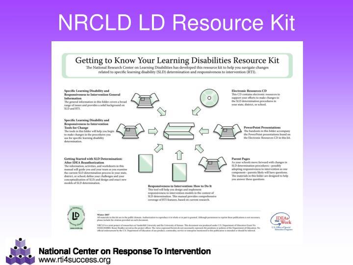 NRCLD LD Resource Kit