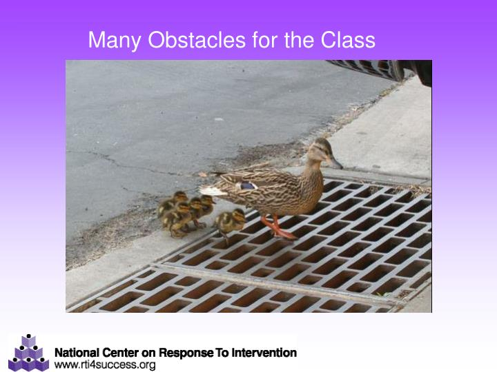 Many Obstacles for the Class
