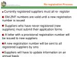 re registration process