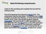 blank fill listening comprehension