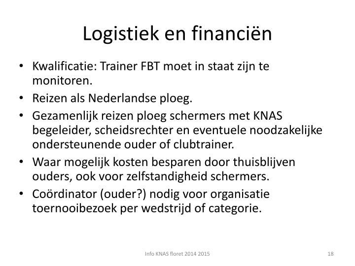 Logistiek en financiën