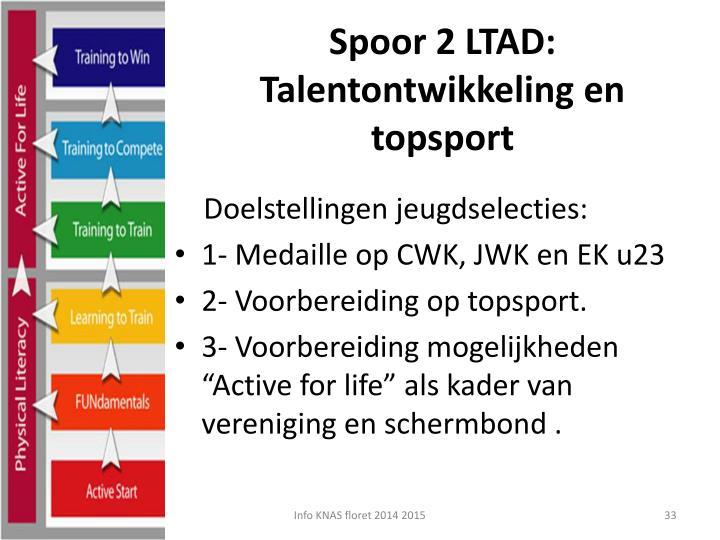Spoor 2 LTAD: Talentontwikkeling en topsport