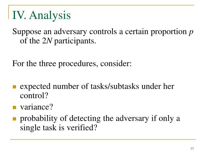 IV. Analysis