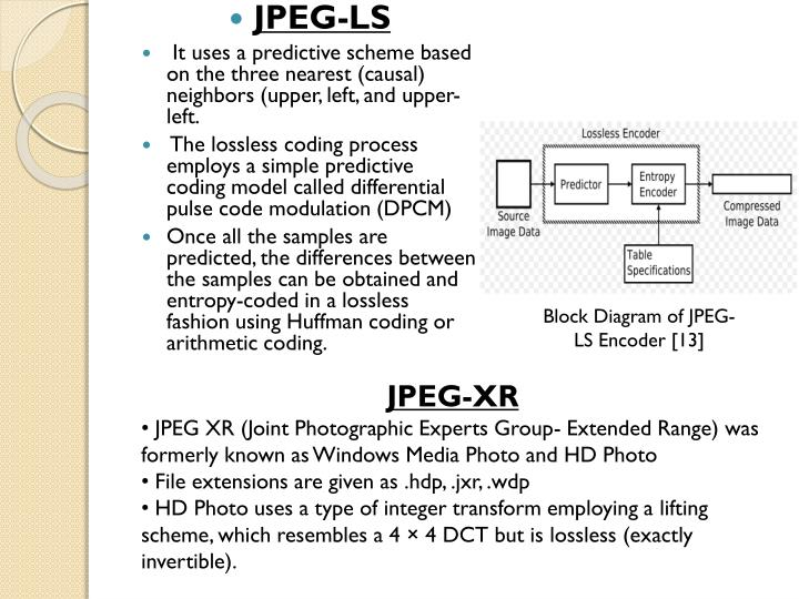 Ppt comparative study of h264 intra frame coding jpeg jpeg ls jpeg ls ccuart Image collections