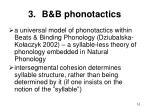 b b phonotactics