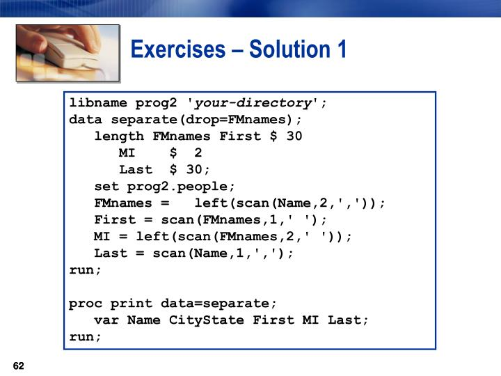 Exercises – Solution 1