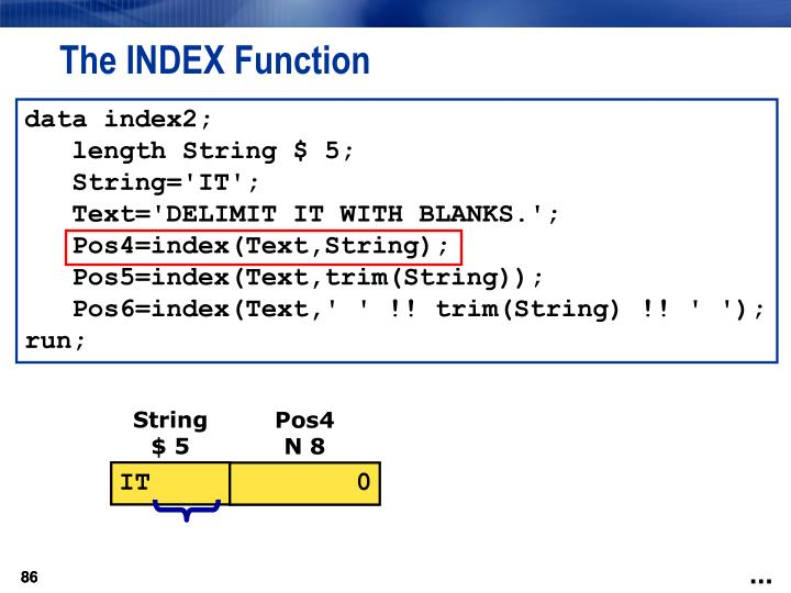 The INDEX Function