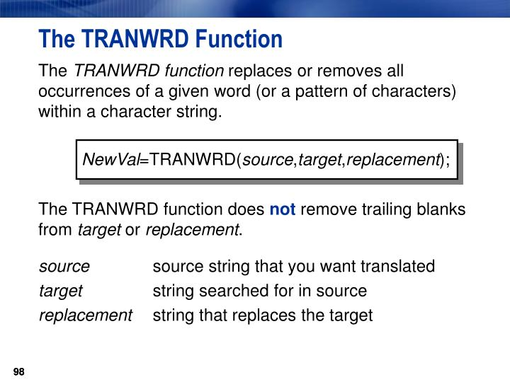 The TRANWRD Function