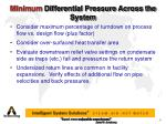 minimum differential pressure across the system