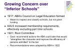 growing concern over inferior schools