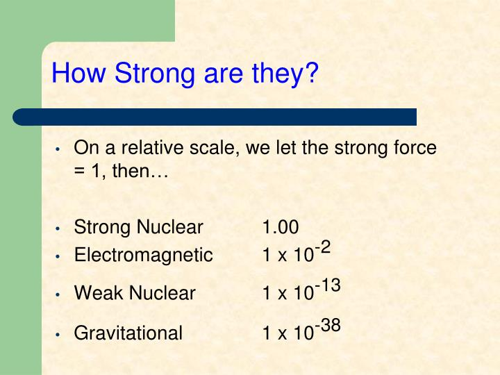 How Strong are they?