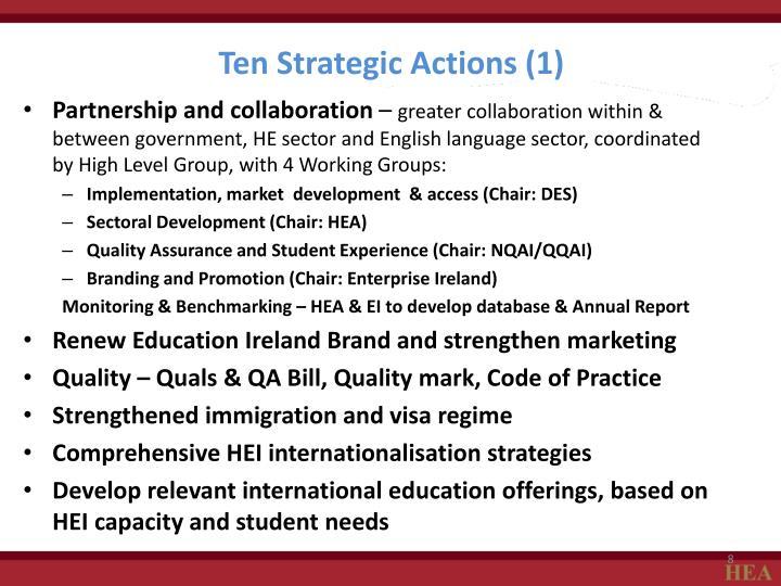 Ten Strategic Actions (1)