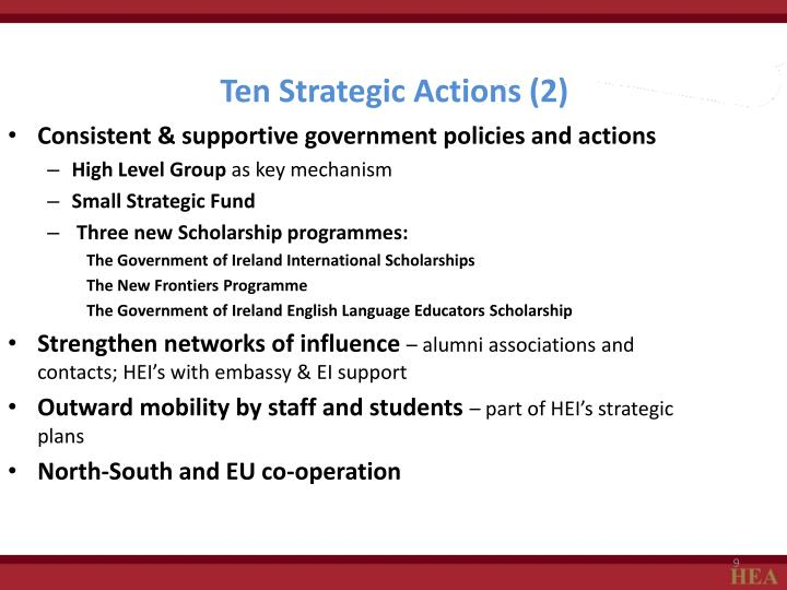 Ten Strategic Actions (2)